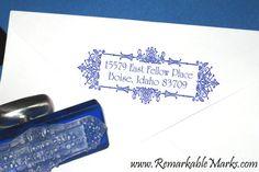 Art Nouveau Custom Elegant Return Address Pretty Art Nouveau Wedding Address Personalized Rubber Stamp on Etsy, $26.00