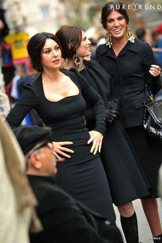Monica Bellucci, Bianca Balti et Bianca Brandolini d'Adda ... en plein shooting