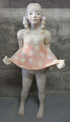 Keramik Doris Althaus, figurative ceramic sculpture in clay