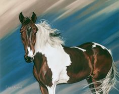 Colors of the Wind by Kim Mc Elroy portrait of my horse I had done after he passed away