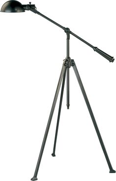 Robert Abbey - Winston Floor Lamp - The metal shade and the adjustable tripod stand give this floor lamp an industrial-chic style. Masculine and sophisticated, this is the ideal accent for your modern or vintage-inspired space. Tripod Lamp, Desk Lamp, Table Lamp, Pharmacy Floor Lamp, Robert Abbey Lighting, Cordless Lamps, Industrial Chic Style, Industrial Floor Lamps, Dynamic Rugs