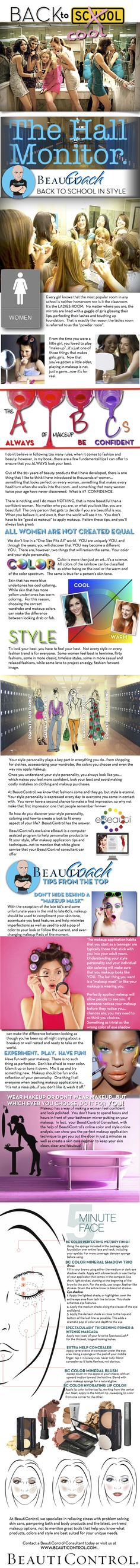 BeautiControl sends you back to school in style.  www.beauticontrol.com