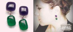 purple dream Jewelry Making, Drop Earrings, Purple, Handmade, Fashion, Hand Made, Moda, Jewellery Making, La Mode
