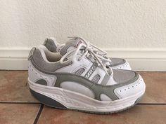 MBT Sport 02 White Leather Rocker Sole Walking Toning Sneakers Women's Sz 7.5/8    eBay