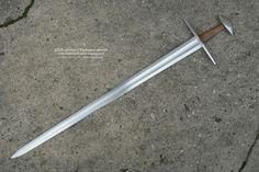 "11th C. Gaddhjalt Sword Overall Length 37"" Blade Length 31.3"" Grip Length 3.8"" Blade Width 1.9"" cross guard 8"""