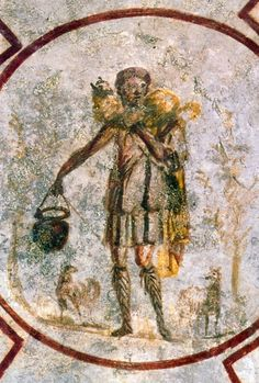 Good Shepherd Fresco in Catacombs