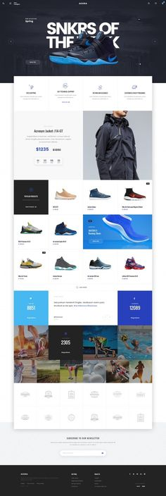 Designspiration — Design Inspiration simple and clean ecommerce web layout ui user interface shoes sneakers blue black white http://ecommerce.jrstudioweb.com/