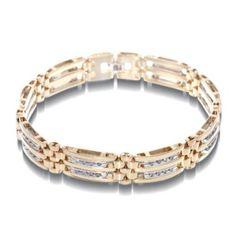 Men's 1 CT. T.W. Diamond Bracelet in 10K Two-Tone Gold