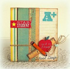 ♥ School Days ♥ by Melissa for the Simon Says Stamp Wednesday challenge (Back to School) August 2014 Card Tags, I Card, School Days, Back To School, Star Students, Scrapbook Cards, Scrapbooking Ideas, Simon Says Stamp, Cool Cards