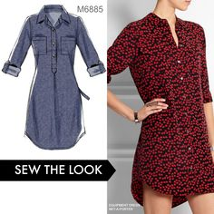 Sew the Look: Whether you make this as a dress or a tunic, it's a great wardrobe addition, especially in a silk print. This McCall's pattern is a fan favorite. M6885                                                                                                                                                     More