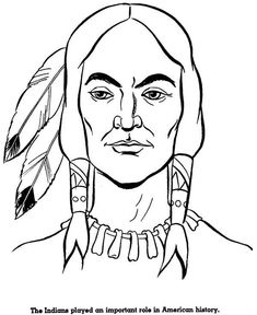 native american potrait of native american coloring page essentials week 5