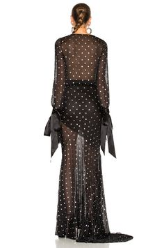 Embellished Plunging Gown