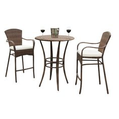 Key Biscayne 3 Piece Bar Height Dining Set with Cushions Fabric: Canvas Navy - http://diningsetspot.com/key-biscayne-3-piece-bar-height-dining-set-with-cushions-fabric-canvas-navy-590309630/