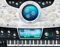 Hexatoniq 3 VST plugin UI Design by Alexey Kolpikov, via Behance