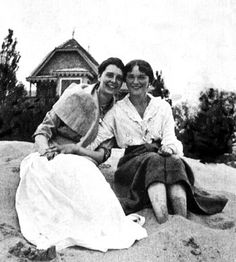Grand Duchess Olga (Right) with friend Ritka Hitrovo