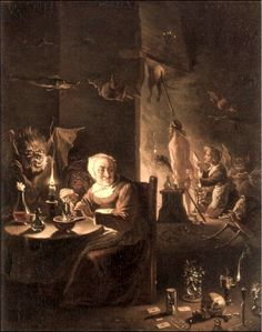 witch ready for departure by David Teniers d.,j. 17th century