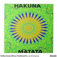 Display your favorite photos, images, and sayings on this vibrant ceramic tile. Use as a trivet or to decorate your home. Great for holiday, wedding, and office gifts. Golden Green African Traditional #Fabric #Colors #Ceramic #Tile #Amazing #Stuff, #beautiful #stuff #products #sold on #Zazzle. #Customized #Product