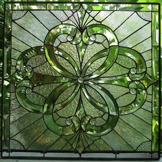 Heavily Beveled Clear & Textured Stained Glass Window (we do custom work, email me for quote) - Glass Art Stained Glass Designs, Stained Glass Panels, Stained Glass Projects, Stained Glass Patterns, Leaded Glass, Beveled Glass, Stained Glass Art, Mosaic Glass, Celtic Stained Glass
