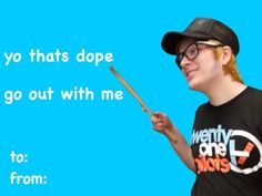 drunk history of fall out boy Funny Valentines Cards, Valentine Images, Valentines Gifts For Boyfriend, Bad Valentines, Valentine Ideas, Emo Bands, Music Bands, Fall Out Boy Tumblr, Drunk History