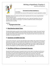Ag Science: HYPOTHESIS WORKSHEET ANSWERS | Curriculum | Pinterest ...