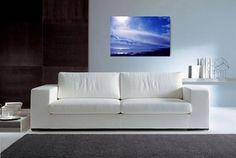 canvas art | Johnshaven, Scotland, Cottonwool Clouds | Donna Lee Reith Art