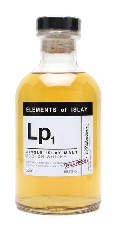 Elements of Islay Lp1. Una magnífica creación de los whisky's de Islay. Una exhibición de notas tanto en nariz como en paladar. Magnífico.