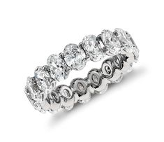 A beautiful wedding or engagement ring alternative | Oval Diamond Eternity Ring in Platinum