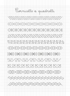 Use as repeating pattern Blackwork Patterns, Blackwork Embroidery, Doodle Patterns, Zentangle Patterns, Paper Patterns, Graph Paper Drawings, Graph Paper Art, Cross Stitch Borders, Cross Stitch Patterns