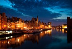 Photo about Beautifull Gdansk s old town photographed in late evening. Image of holidays, nightshot, town - 14559332 Travel Brochure Template, Sunset Images, Danzig, Old Town, Poland, New York Skyline, Stock Photos, Photography, Old City