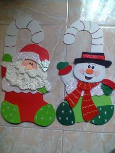 navidad 2014 manualidades en foami - Buscar con Google                                                                                                                                                      Más Felt Christmas, Christmas Projects, Christmas Stockings, Christmas Holidays, Christmas Decorations, Xmas, Christmas Ornaments, 242, Theme Noel