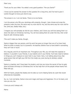 :(  read this to Jack this year (using his name of coarse!) we both cried :( This was a perfect letter though