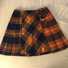 Vintage Plaid Skirt Vintage Plaid Skirt. High waist. Very 60s/90s. Tag is very hard to read but says size 9 - it is a size 0/2 in normal American current sizes. Brand is Trovert. Trovert Skirts Midi