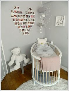 Love the color scheme of this nursery Baby Bedroom, Baby Boy Rooms, Little Girl Rooms, Baby Room Decor, Nursery Room, Girls Bedroom, Girl Nursery, Baby Room Pictures, Ideas Geniales
