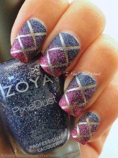 Ombre textured nails  #Nailart #glitter #polish - bellashoot.com