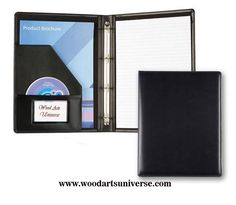Leatherette Zippered #RingBinder standard portfolio WAUCUST5427  http://woodartsuniverse.com/catalog/product_info.php?cPath=44&products_id=637
