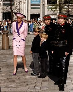 Princess Diana and Her Family   princess diana and her little princes participated in the 50th