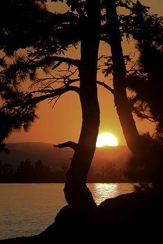 Sunset from Flathead Lake #Montana