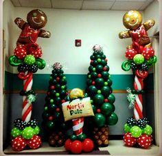 Decoracion+navideña+con+globos