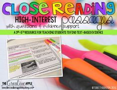 Close Reading Comprehension Pack: High Interest by The Creative Apple Teaching Resources | Teachers Pay Teachers