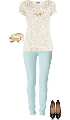 Pastel, lace and gold.. whats not to love!! <3