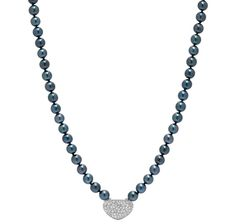 Sterling Silver Akoya Pearl & Diamond Necklace  $849.99 THESHOPPINGCHANNEL.COM