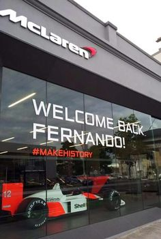 Mclaren #welcomebackfernando