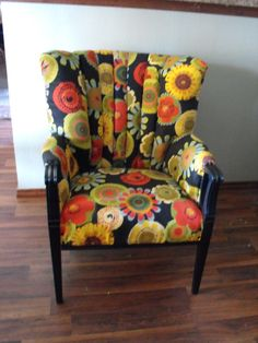Channel Back Chair - love the colors..