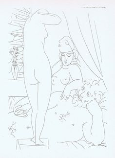 PABLO PICASSO LITHOGRAPH NUDE VOLLARD SUITE 1956 CONSERVATION MOUNTED # 50