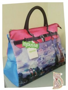 Mousse printed bag - Paris tower in psychedelic art style. Size : L39 x H27 x W18cm Price : US$79 Material: Polyester