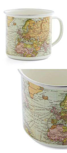 World map coffee mug: