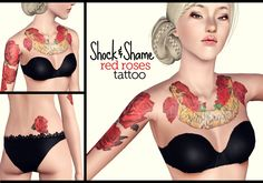 """As promised, a tattoo for the ladies!- Works for all categories, from young adult to elder.- NON-CAStable, but you have to adjust the brightness to suit your taste and your sims' skin color.- Found under accesories with custom thumbnail. This replaces the gloves mesh, which means you can't use this and gloves, and most custom fingernails at the same time unless you use the """"allowmultiwear"""" cheat.This comes in 3 flavors: V1 - Arm and chest V2 - Arm, chest and back V3 - ..."""