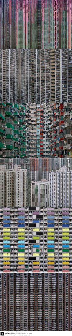 Architectural density in Hong Kong
