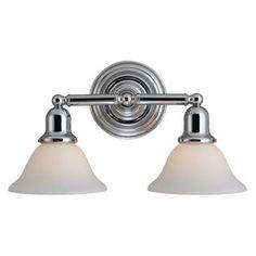 Sea Gull Lighting: 2-Light Sussex Chrome Bathroom Vanity Light from Lowe's