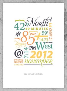 Special Event Print (Date, Time & Place) by AndreaArch on Etsy, $17.00